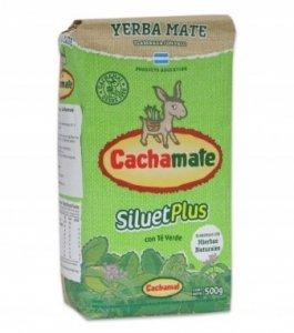 Yerba Mate Cachamate Silueta PLUS Green TEA 500g