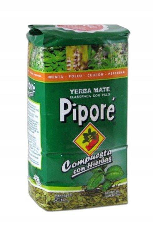 Yerba Mate Pipore Compuesta con Hierbas 500g Zioła