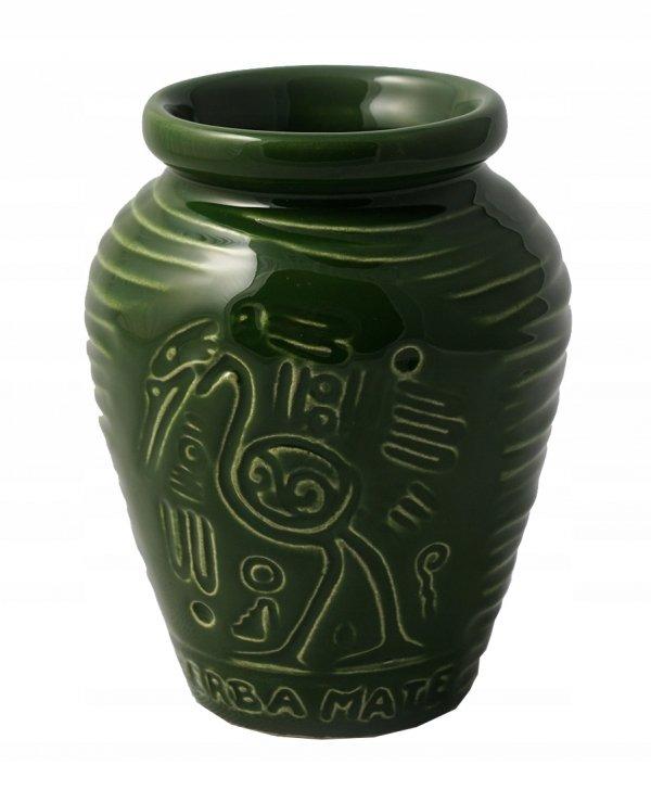 Matero Ceramiczne AZTEK Zielone - do Yerba Mate