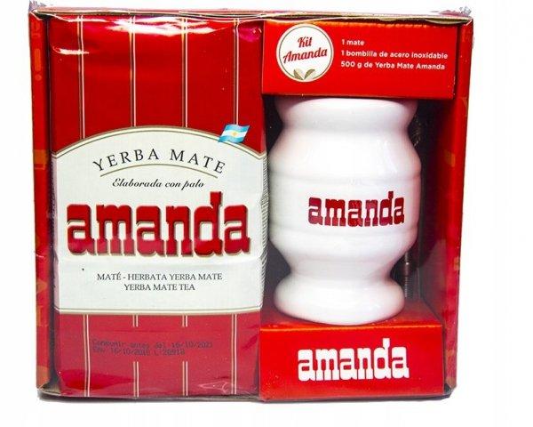 Zestaw do Yerba Mate - Matero + Bombilla + Amanda