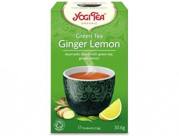 Herbata Zielona Sencha z Imbirem Bio 17x1,8g Yogi Tea