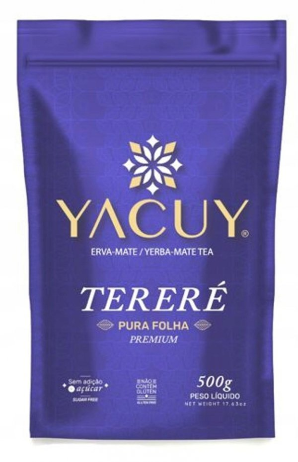 Yerba Mate Yacuy Terere Pure Leaf Premium 500g