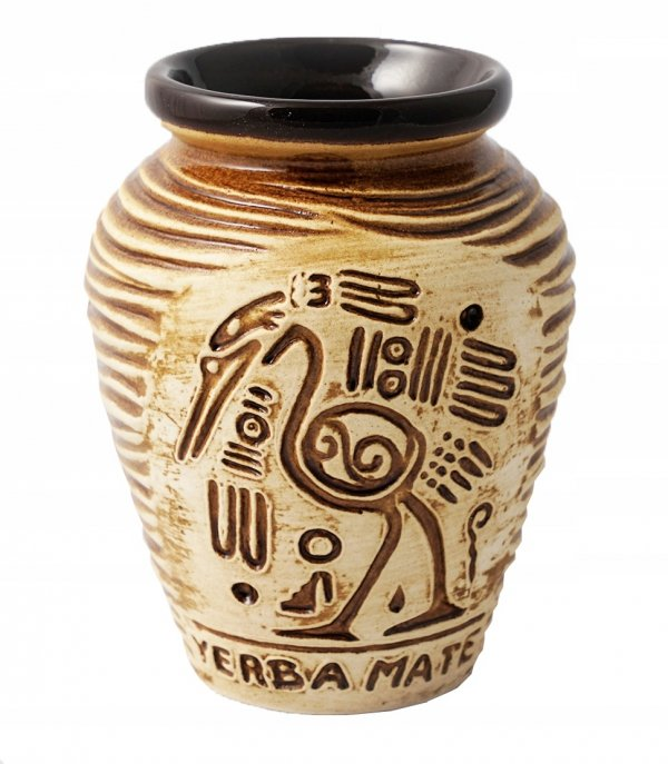 Matero Ceramiczne AZTEK Bombilla SPRING Yerba Mate