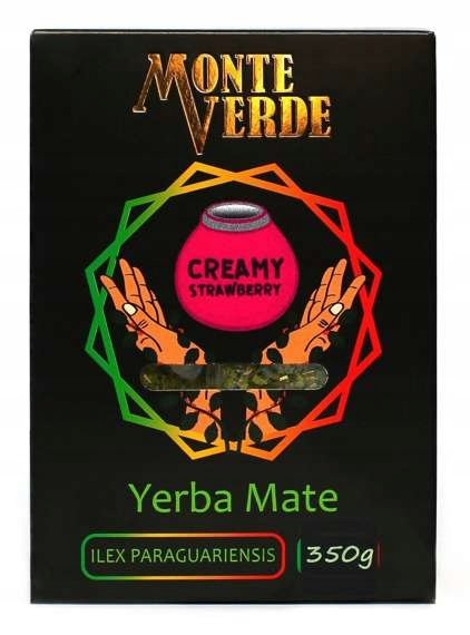 Yerba Mate Monte Verde Creamy Strawberry 350g Róża