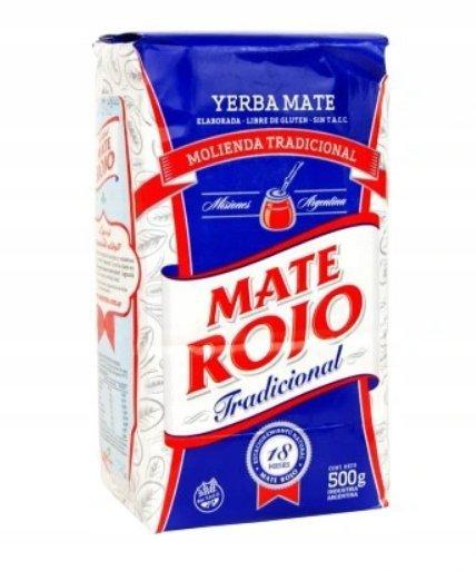 Yerba Mate Rojo Molienda Tradicional 500g Premium