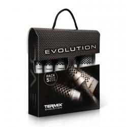 TERMIX EVOLUTION BASIC, ZESTAW 5 SZCZOTEK DO WŁOSÓW, RÓŻNE ROZMIARY