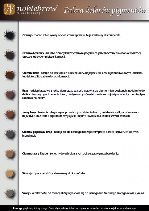 NOBLE LASHES PIGMENT KREMOWY DO MICROBLADINGU I REKONSTRUKCJI BRWI CZARNY 5 ML