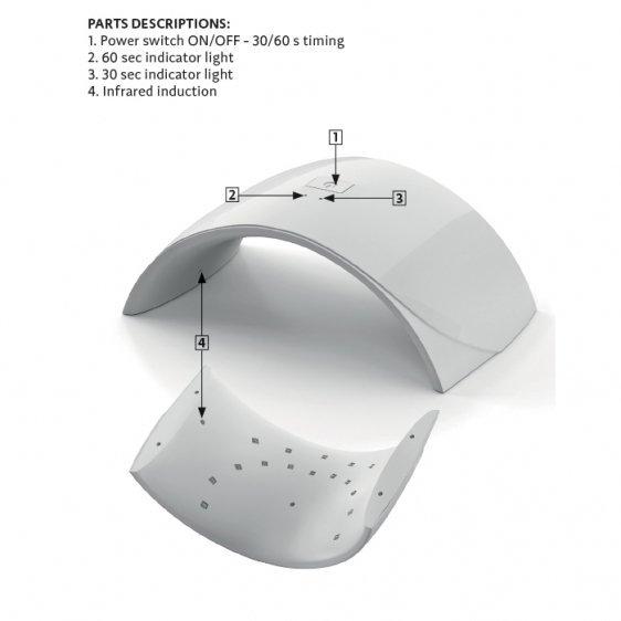 SEMILAC LAMPA DUAL LED 24W UV/LED