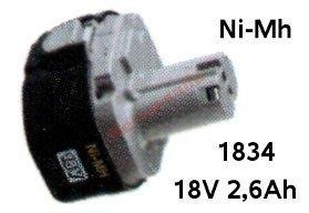 Akumulator ORYGINAŁ MAKITA 1834 Ni-Mh 18V 2,5Ah (d.2,6Ah*)