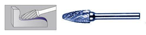 FREZ Z WĘGLIKA SPIEKANEGO ZE WZMOCNIONĄ POWŁOKĄ TYTANOWĄ ŁUKOWO-KULISTY 10mm / 6mm F1020/CW