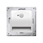 Oprawa oświetleniowa LED z czujnikiem ruchu, 230V biały