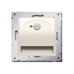 Oprawa oświetleniowa LED z czujnikiem ruchu, 230V kremowy