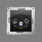 Gniazdo antenowe R-TV-SAT końcowe/zakończeniowe tłum.:1dB antracyt, metalizowany