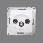 Gniazdo antenowe R-TV-DATA tłum.:10dB biały
