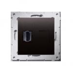 Gniazdo HDMI pojedyncze antracyt, metalizowany