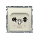Gniazdo antenowe R-TV-DATA tłum.:10dB beżowy