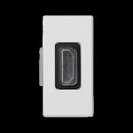 Płytka K45 adapter HDMI-HDMI 45×22,5mm czysta biel