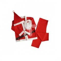 Strój Mikołaja popularny 5-częściowy czerwony rozmiar XL-XXL 39-252
