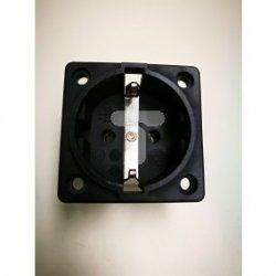 Gniazdo tablicowe P-NOVA+ czarne 16A 2P+Z  SCHUKO 10584-0s