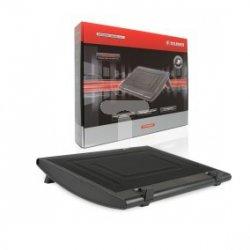 Podstawka chłodząca pod laptopa 15,4'' czarna średnica: 14cm 700RPM 7x31x40cm ABS/ALU