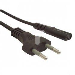 Kabel zasilający EURO (radiowy) CEE 7/16 - IEC 320 C7 1,8m VDE czarny CA-C7CA-11CC-0018-BK
