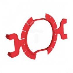 Pierścień mocujący do puszek p/t 60mm czerwony KLEMMFIX (bezgipsowe obsadzanie) /25szt./ 1159-02