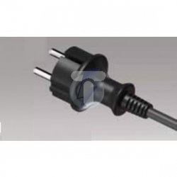 Przewód przyłączeniowy z wtyczką PP-40H b/u 2m H07RN-F 2x2,5 IP44