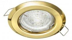 Oprawa sufitowa wpuszczana ALFA złota (stalowa) LUX01229