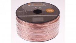 Przewód głośnikowy CCA 2x0,50 OFC LB0005 LIBOX /100m/