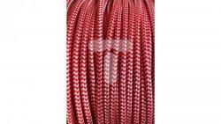 Kolorowy przewód mieszkaniowy H03VV-F (OMY) 3G 0,75 żo w oplocie tekstylnym zygzak biało-czerwony PPZZBICE01 /bębnowy/