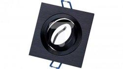 Oprawa aluminiowa JOTA K/1 drapana czarna + czarny pierścień wewnętrzny halogenowa wpuszczana regulowana  LUX06763