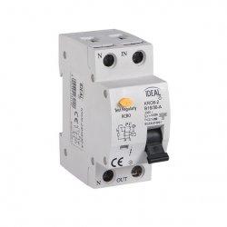 Wyłącznik różnicowo-prądowy z zabezpieczeniem nadmiarowo-prądowym KRO6-2/B16/30-A 23212