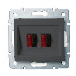 Gniazdo głośnikowe podwójne DOMO 01-1820-041 gr 24937