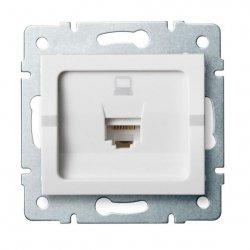 Gniazdo komputerowe pojedyncze, (RJ45Cat 6 Jack) LOGI 02-1400-002 bi 25109