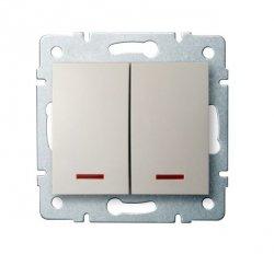 Łącznik dwugrupowy świecznikowy z LED LOGI 02-1120-103 kr 25139