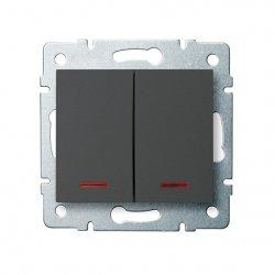 ??cznik zwierny podwójny LED LOGI 02-1023-141 gr 25248