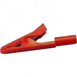Krokodylek bezp. gn. 2mm MA1-R 60V=/30V~ 6A