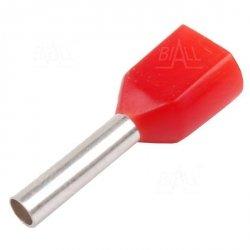KR010010x2 R Tulejka izolow. 2x 1,0mm2x10   100szt