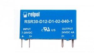 Przekaźnik półprzewodnikowy 1P do druku 4A DC 7-20V DC RSR30-D12-D1-02-040-1 2611996