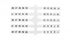 Oznacznik elastyczny do złączek szynowych EO3 /1-50/ 4x50szt. 003901772
