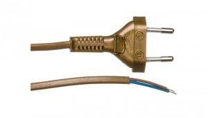 Przewód przyłączeniowy bez wyłącznika 190cm złoty SP-190/2X0,5/-ZLO YNS10000441