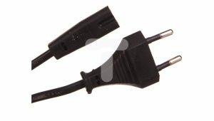 Kabel zasilający EURO (radiowy) CEE 7/16  - IEC 320 C7 1.8m
