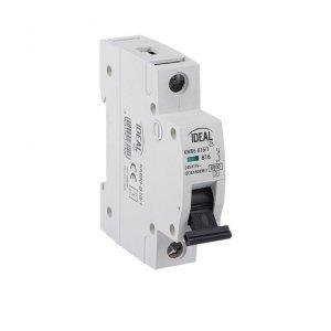 Wyłącznik nadmiarowo-prądowy, 1P KMB6-C4/1 23161