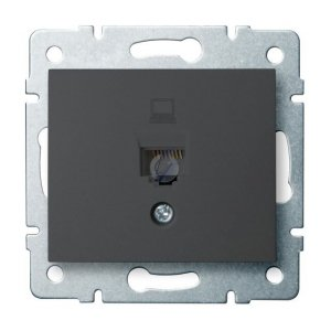 Gniazdo komputerowe pojedyncze (RJ45Cat 5e Jack) DOMO 01-1390-041 gr 24930