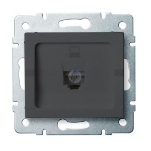 Gniazdo komputerowe pojedyncze (RJ45Cat 5e Jack) LOGI 02-1390-041 gr 25285
