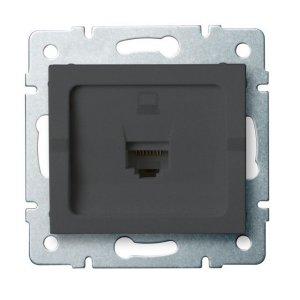 Gniazdo komputerowe pojedyncze (RJ45Cat 6 Jack) LOGI 02-1400-041 gr 25286
