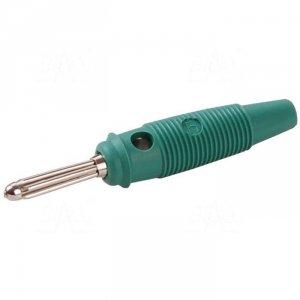 Wtyk banan 4mm BUELA30-GN 60V=/30V~ 30A zielony