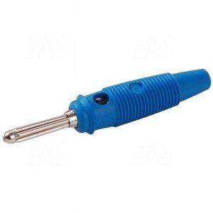 Wtyk banan 4mm BUELA30-BU 60V=/30V~ 30A niebieski
