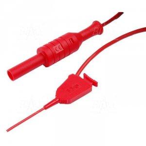 Chwytak pomiar. 6606-D4-R SMD+przew.4(F) czerwony