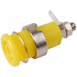 Gniazdo panelowe bezp. 4mm GLP301-Y 32A CAT II 1000V żółty